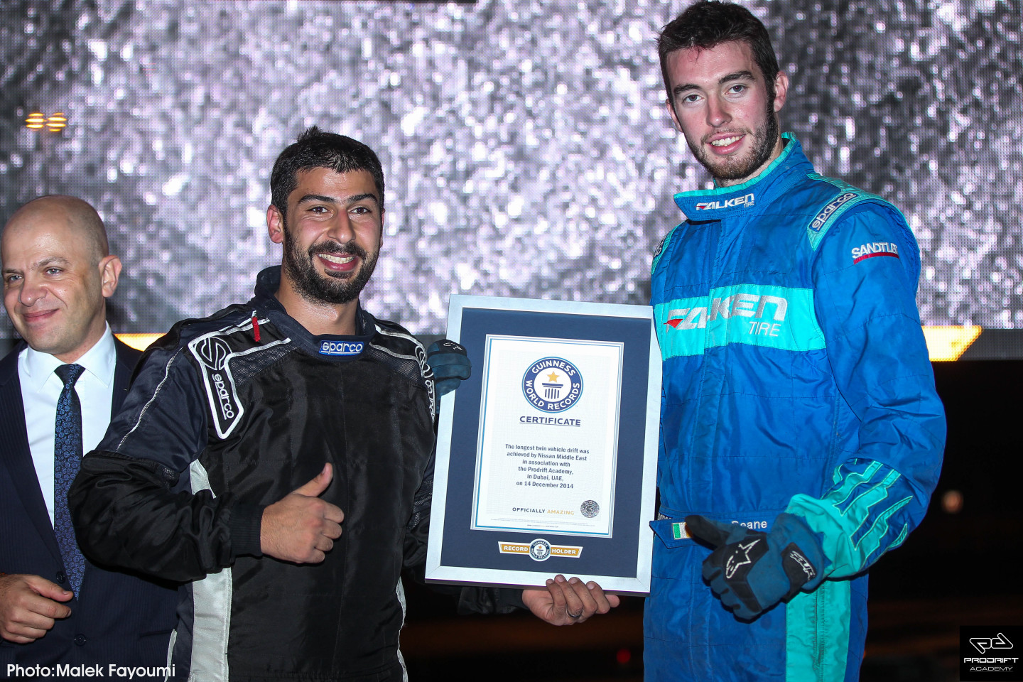 James Deane and Ahmad Daham celebrate achieving Guinness World Record
